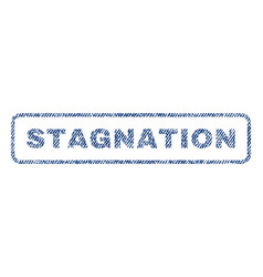Stagnation textile stamp vector