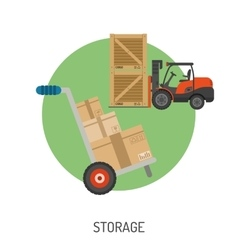 Storage and Delivery Flat Icons vector