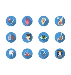Tobacco addiction round color icons set vector image