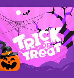 trick or treat party vector image