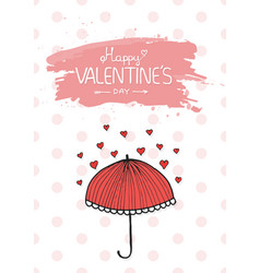 Valentines day vintage lettering background vector