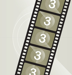 Vintage film roll vector