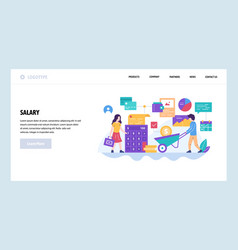 web site design template employee salary vector image