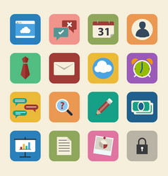 business icons set flat design for web and mobile vector image vector image
