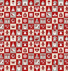 Christmas design icons set backgroundSeamless vector image vector image