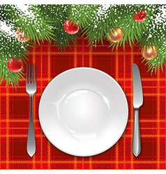 Christmas menu template vector image vector image