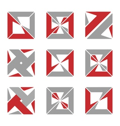 abstract square symbols vector image