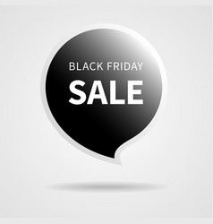 black friday sale isolated black tag vector image vector image