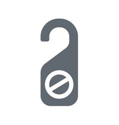 do not disturb door sign vector image