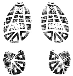 Grungy BootPrints Left and Right very detailed vector image