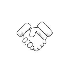 Handshake sketch icon vector