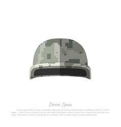 helmet of soldier military hat with camouflage vector image vector image