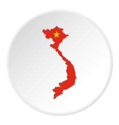 Map of Vietnam icon flat style vector image