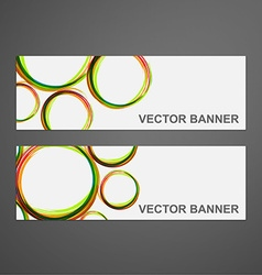 abstract colorful banner set vector image vector image