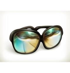 Black sunglasses icon vector image vector image