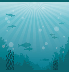 colorful background sea landscape underwater vector image vector image