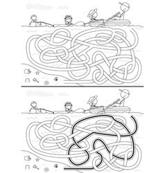 Family maze vector image