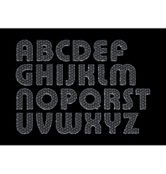 letters on a black background vector image