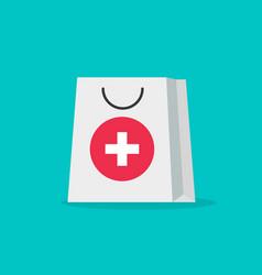 pharmacy bag flat cartoon vector image vector image