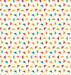 Seamless Pattern with Colorful Geometric Objects vector image vector image