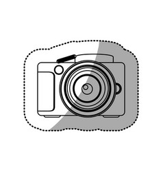 silhouette technology professional camera icon vector image vector image