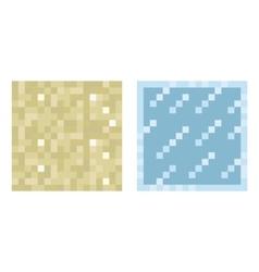 Texture for platformers pixel art - sand vector image vector image