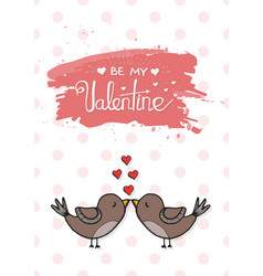 valentines day love card template vector image