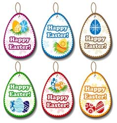 Easter label set vector image
