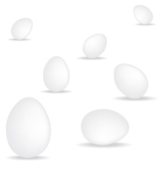 egg on white background vector image vector image