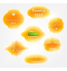 Orange Sticker Set vector image