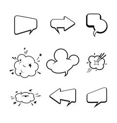set of many comic style speech bubbles vector image vector image