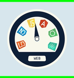web dev speedometer vector image