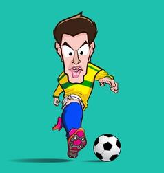 yellow shirt control football cartoon vector image