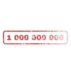 1 000 000 000 rubber stamp vector image