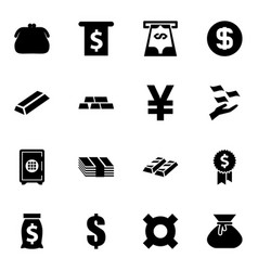 16 wealth icons vector image
