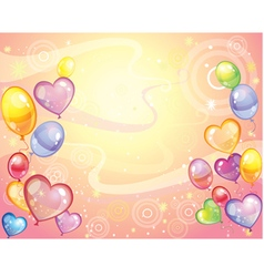 Background with balloons rose vector image