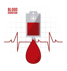 Bag drop blood donation icon graphic vector