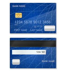 bank card stock vector image