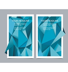 Banners with abstract geometrical background vector image