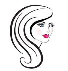 beautiful woman hair salon vector image