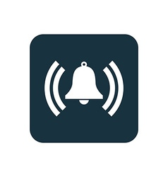 Bell icon Rounded squares button vector