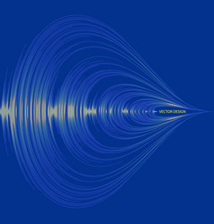 blue audio wave background digital music player vector image