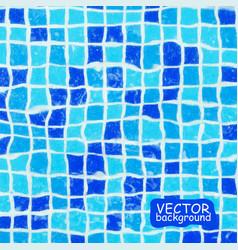 Blue ceramic mosaic background vector
