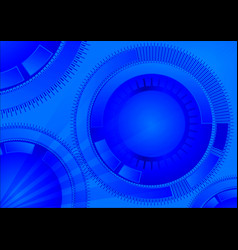 blue geometric technology background with circle vector image