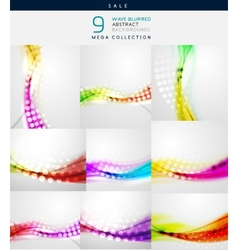 Blurred wave abstract backgrounds vector