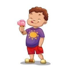 Boy with ice-cream vector