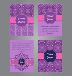 brochure design in vintage ornamental style vector image