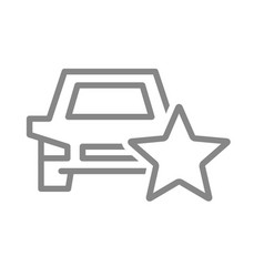car rating auto with star line icon vector image