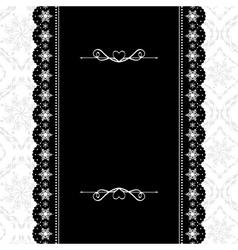 Card design vintage ornate frame vector image