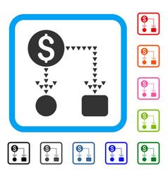 cashflow scheme framed icon vector image